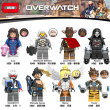 Game Overwatching Figures DVA Genji Junkrat Tracer 76 Shimada Hanzo Mercy Rexxar Remar Medivh Battle Royale Building Blocks Toys(China)