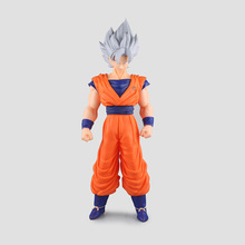 42cm Super huge dragonball dragon ball Kakarotto Son Goku Silver hair action figure collectors toys Christmas toy