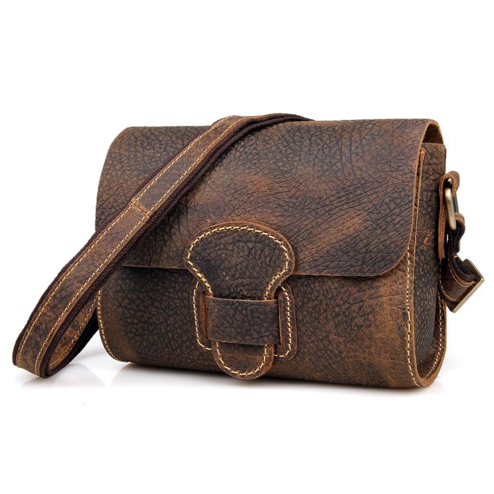 JMD Crazy Horse Leather Women's Shoulder Bag Lady Messenger Bag Small Sling Bag for Girl Handbags C009 jmd crazy horse leather womem messenger bag small top hand sling bag for girls c004r
