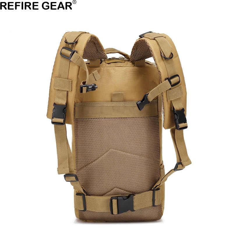 Mochila táctica al aire libre para hombre, mochila verde camuflaje para senderismo, mochila para ordenador portátil, mochila impermeable para viajes, 30L