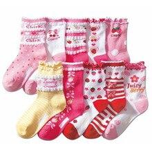 5 пар высококачественных милых хлопковых детских носков принцессы для девочек носки для девочек