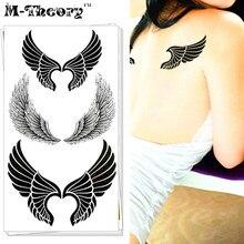 M-theory Angel Wings Choker Makeup Temporary 3d Tattoos Sticker Tatuagem Flash Tatoos 3D Henna Body Art Tatto