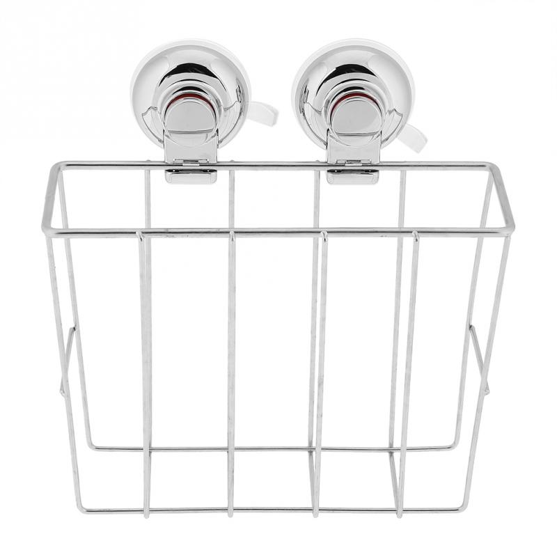 Stainless Steel Wall Mounted Storage Rack Sucker Bathroom ...