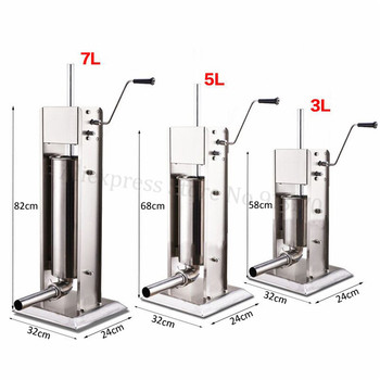 Commercial 3L Manual Spanish Churros Machine Stainless Steel Vertical Sausage Stuffer Salami Maker 1