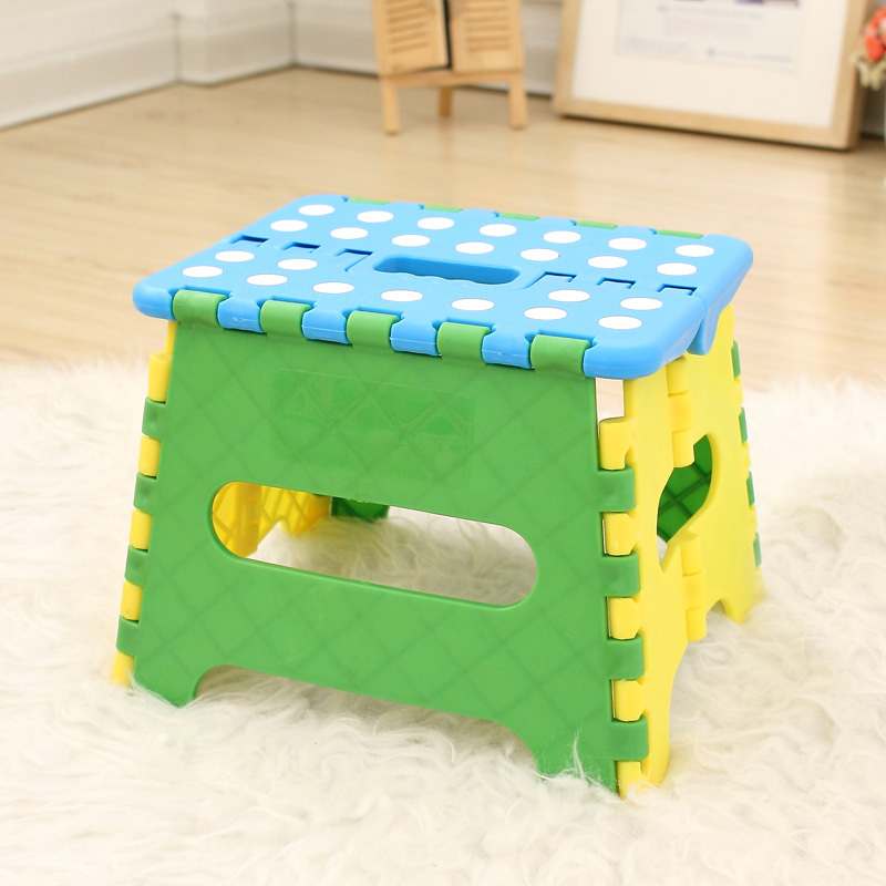 new year Adult children home thickening of the portable plastic stool Small folding stool to the bench 17 styles shoe stool solid wood fabric creative children small chair sofa round stool small wooden bench 30 30 27cm 32 32 27cm
