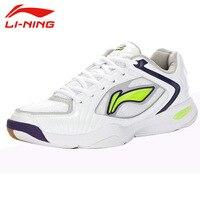Li Ning Men S Breathable Mesh Lace Up Wear Resisting Badminton Shoes Anti Slip Damping Outdoor