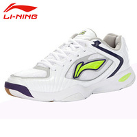 Li Ning Men S Breathable Mesh Lace Up Wear Resisting Badminton Shoes Anti Slip Damping Outdoor