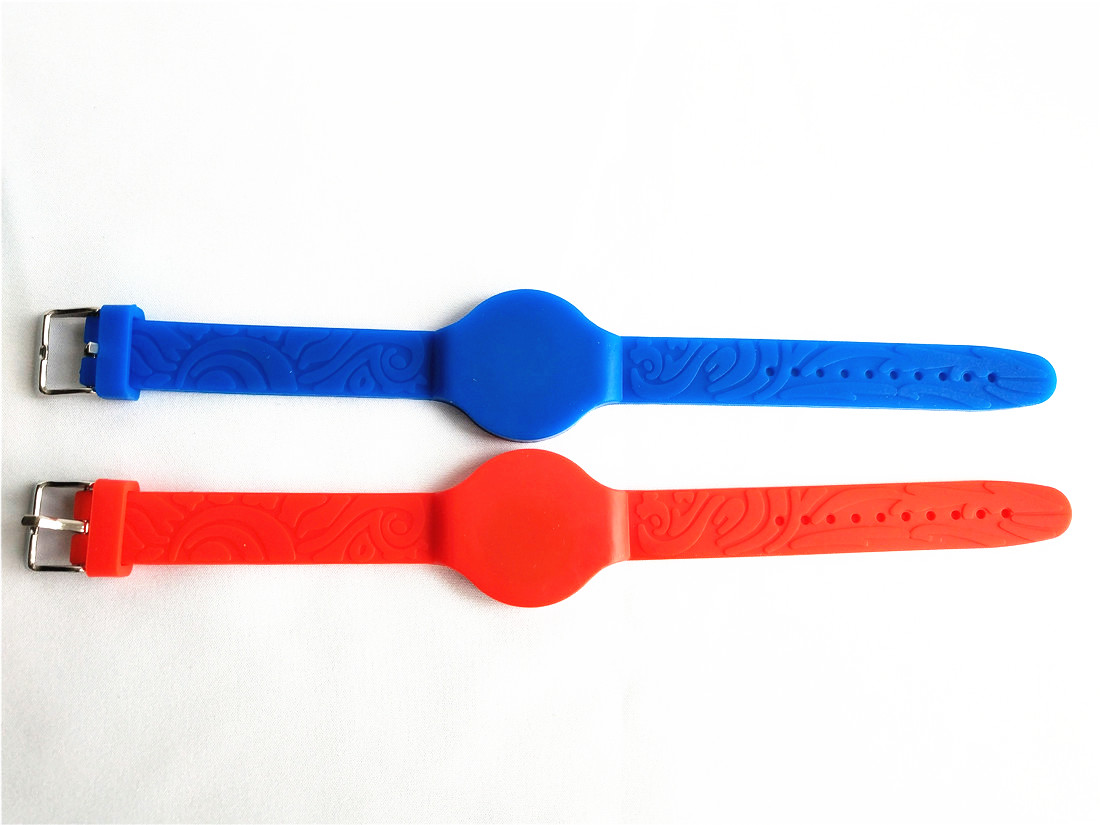 Waterpoof Writable Rewrite 125khz Duplicator Silicone Rfid T5577 Wristband Blue/Red