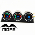 "Original Logo 2"" 20 LCD RPM Tachometer + Boost + Oil Press Gauge 52mm With Gauge Pod Holder"