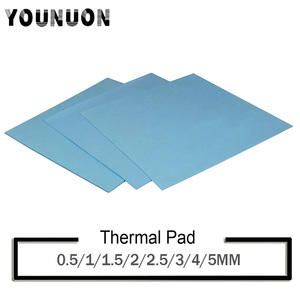 Image 1 - YOUNUON 100x100mm 0.5mm 1mm 1.5mm 2mm 3mm 4mm 5mm tichkess Thermal Pad CPU Heatsink Pad Cooling Conductive Silicone Thermal