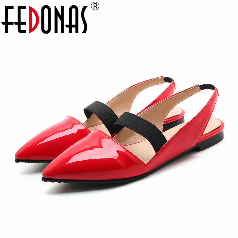 FEDONAS Spring Autumn Fashion Women Shoes Pointed Toe Slip-On Flat Shoes Woman Comfortable Single Casual Flats Size 34-43 2017 fashion women shoes woman flats high quality casual comfortable pointed toe rubber women flat shoes plus size 35 42 s097