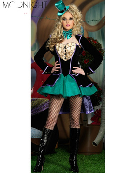 MOONIGHT Alice In Wonderland Cosplay Costume Queen Costume Female Elegant Women Party Cosplay Poker queen costumes