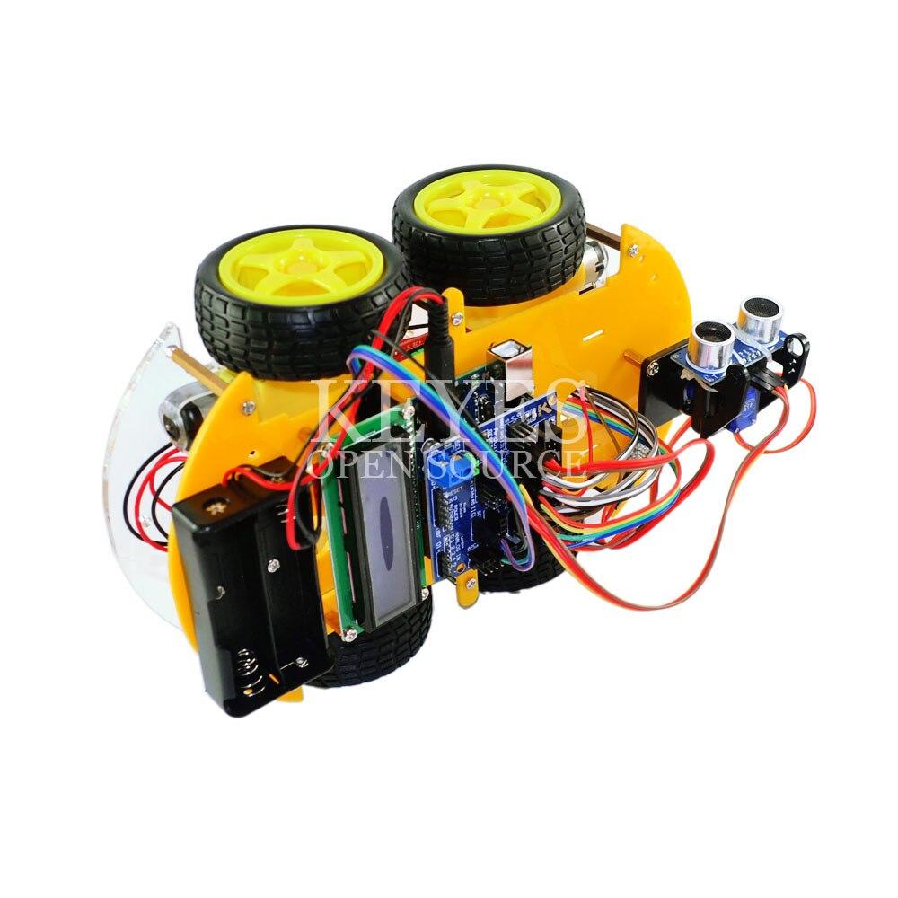 Многофункциональный робот автомобиль комплект Bluetooth шасси костюм отслеживание Совместимость UNO R3 DIY RC электронная игрушка робот с Lcd1602 - 3