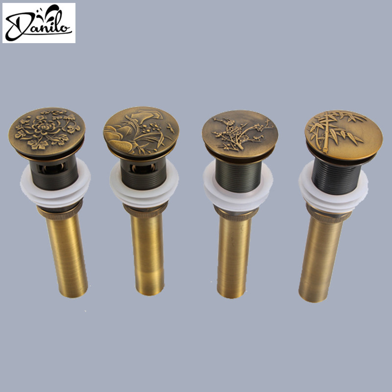 Variety High quality without overflow Bathroom Lavatory Sink Pop Up Drain With Bronze Finish bathroom parts faucet accessories