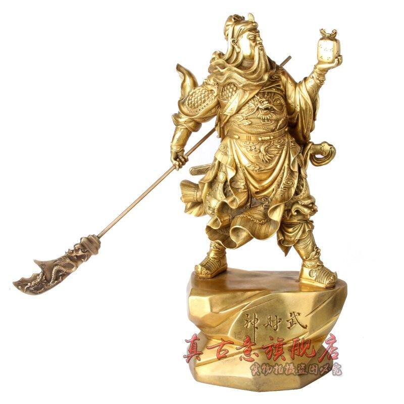 Really ancient copper ornaments font b knife b font bronze statue of Guan Gong Guan Fortuna