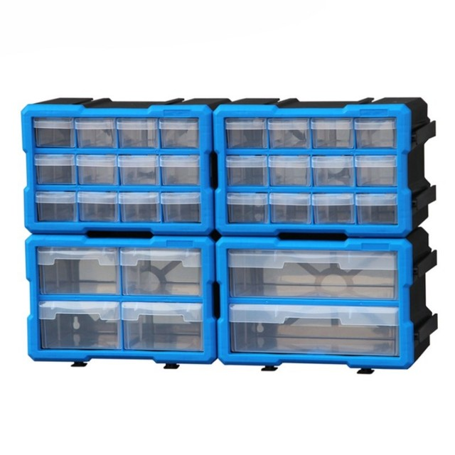 tool case Wall-mounted Parts box tool box Classification of ark Multi-grid drawer type Building blocks case Screw Component box