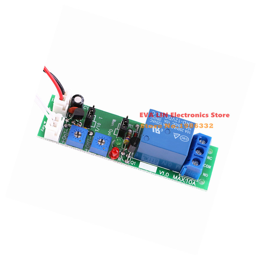 Ws16 Dc 12v 30a Multifunction Adjustable Delay Timing Turn On Off The Polarity Control Relay Is Switched When Q1 Covered By Infinite Cycle Time Timer Loop Switch