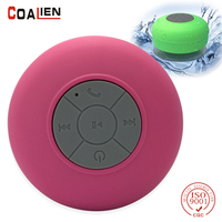 Speaker Bluetooth Wireless Handsfree Mini Sucker Outdoor Portable Microphone Speaker Bathroom Waterproof Music Bluetooth Speaker