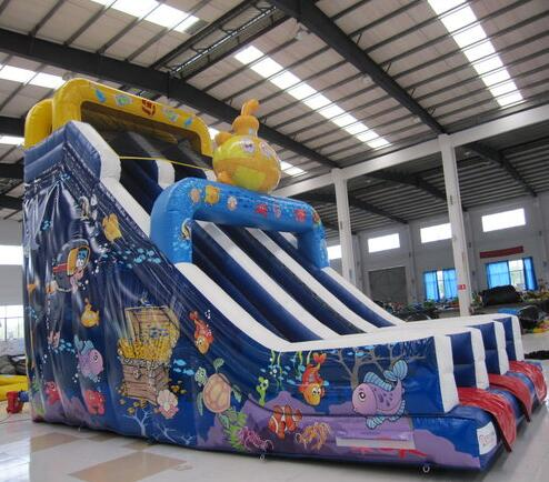 china inflatable slides supplier large inflatable slide toys for children playground Ocean World theme inflatable slide with pool children size inflatable indoor outdoor bouncy jumper playground inflatable water slide for sale