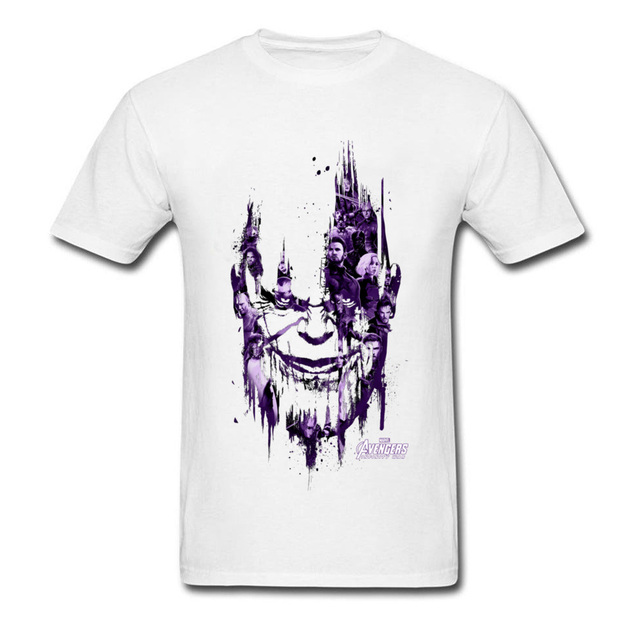 best deals on sale retailer purchase cheap Powerful Thanos Tshirt Men Infinity War T Shirt USA Marvel Movie Hiphop  Avengers 3 T-Shirt New Hot Trendy Fashion Clothing