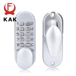 KAK In Lega di Zinco Keyless Combinazione Meccanica Serratura Digitale Nessun Potere Pulsante Codice Serrature per Mobili Per La Casa Hardware