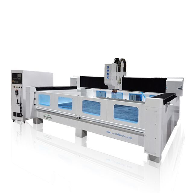 Heavy Duty Body 3D Stone Carving CNC Router Machine , Marble Stone Cutting Machine For Granite Engraving