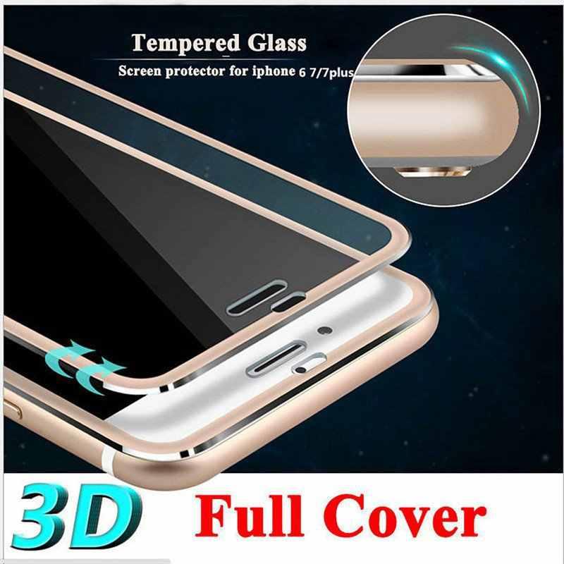 3D ขอบโค้งกระจกนิรภัยล้างครอบคลุมเต็มรูปแบบสำหรับ iPhone 7 Plus 7 ไทเทเนียมป้องกันฟิล์มสำหรับ iPhone 6 6 S