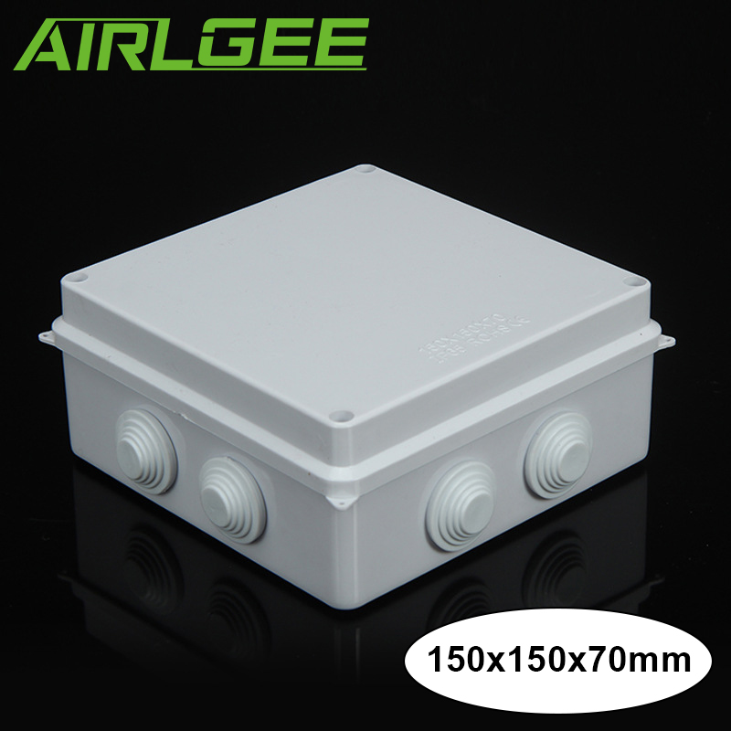US $9.2 18% OFF|White Plastic Square Waterproof Junction Box IP65 Outdoor Wiring Junction Box on twisted pair, cable gland, distribution board, home wiring, electrical conduit, knob and tube wiring, power cable, ac power plugs and sockets, wiring diagram, earthing system, ring circuit, cable tray, national electrical code, electrical wiring, circuit breaker, ground and neutral,