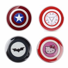 Cartoon Batman Hello Kitty Captain America Iron Man Qi Wireless Charger  Charging Pad for Samsung Galaxy S6 S7 Edge Note 5Note 7