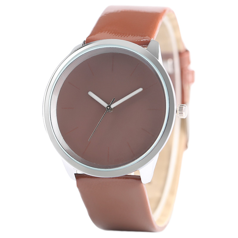 Candy Color Women Watches Elegant Fashion Leather Strap Ladies Watch Simple Business Girl Quartz Clock Casual Modern Hour timesshine women s wristwatches elegant retro watches women quartz watch casual genuine leather strap clock for ladies fw02