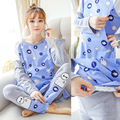 Pregnant women breastfeeding month clothing autumn and winter long pajamas cartoon image