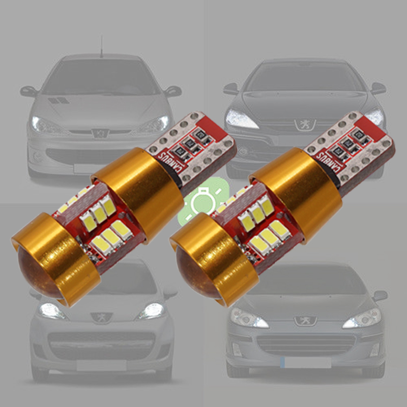 2pcs W5W <font><b>LED</b></font> Bulbs Car Position Light for <font><b>Peugeot</b></font> 107 108 206 207 307 406 <font><b>407</b></font> 508 3008 4008 Canbus Clearance Interior lights image