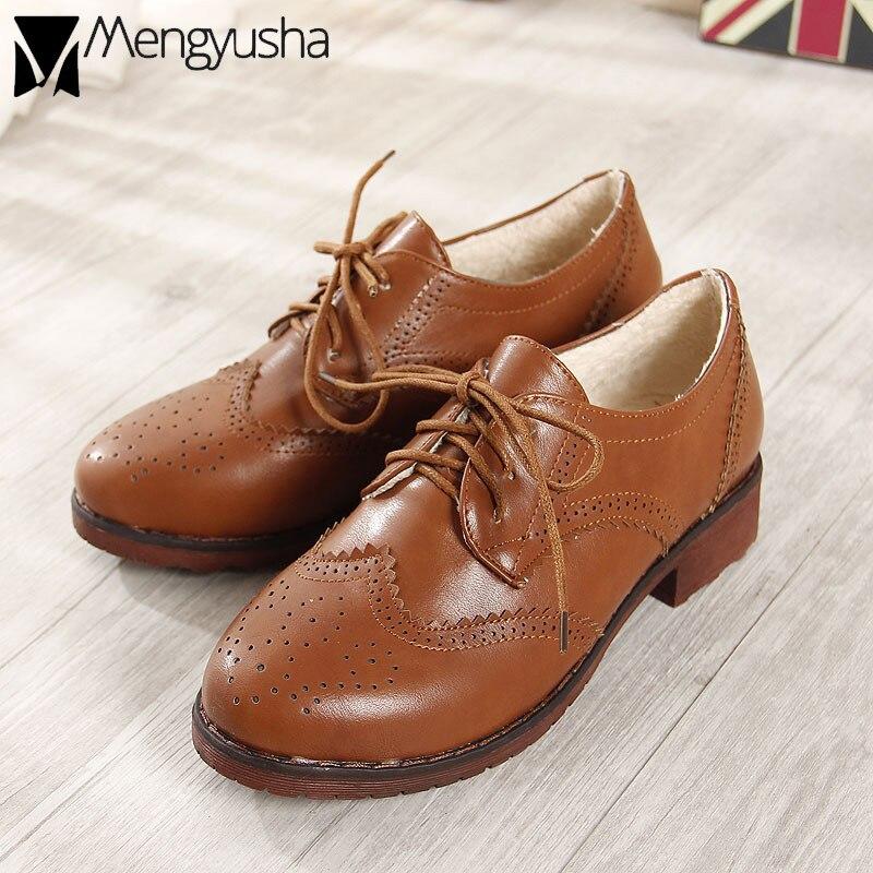 Invierno 3 Tiras Brown Zapatos Black Preppy Vintage Mujer Tacones WDHE9I2