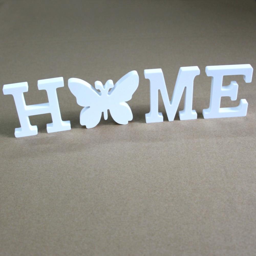 15cm Mesterséges fából készült betűk születésnapi esküvői - Lakberendezés - Fénykép 6