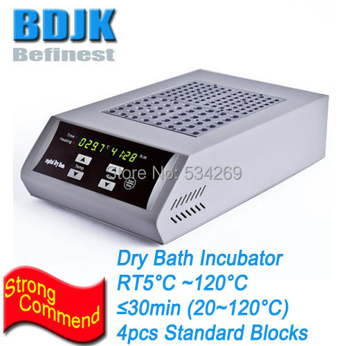 DKT200-4 Digital Dry Bath Incubator with 4 Standard Blocks Capacity Metal Laboratory Heating Equipment minib 100f digital laboratory mini dry bath incubator fan cooling thermostatic device
