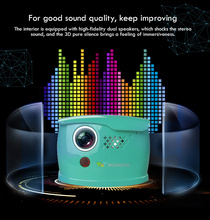 WOWOTO Mini Blue Projector Manual Focus 854*480 Resolution Wi-Fi Bluetooth LED Portable HD Beamer For Home Entertainment Q1