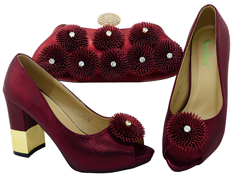 Fashion Italian Design High Quality Shoes and Bag To Match African Shoes and Bag Set  Nigerian party shoes and  BCH-33A italian visual phrase book