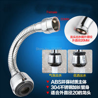 Kitchen Faucet Aerator ABS Sprayer With Flexible Pipe 360 Degree Turn 20MM 22MM And 24MM Thread
