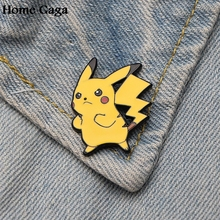 Homegaga Pocket monster Pikachu Zinc tie cartoon Funny Pins backpack clothes brooches for men women hat decoration badges D1594