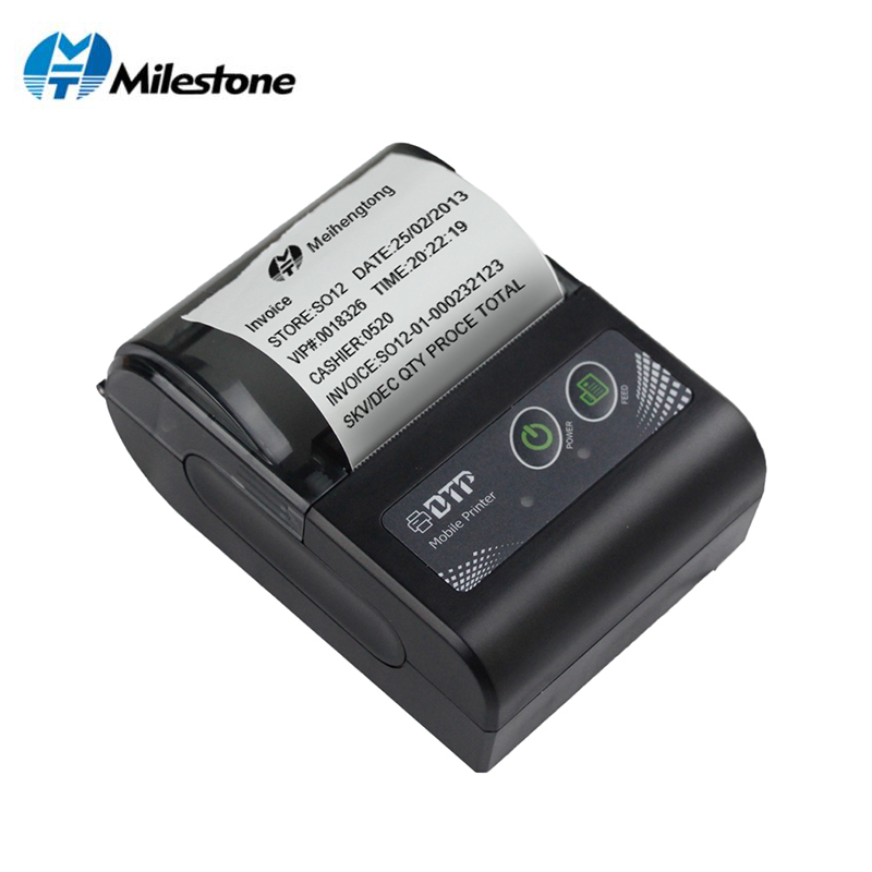 Milestone 2inch Mini Bluetooth Receipt Printer Thermal Portable Wireless bill ticket Android IOS Pocket Printer small