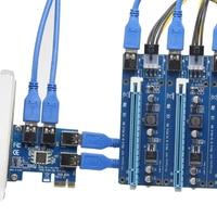 PCIe 1 To 4 Mining Card PCI Express 16X Slots Riser Card PCI E 1X To