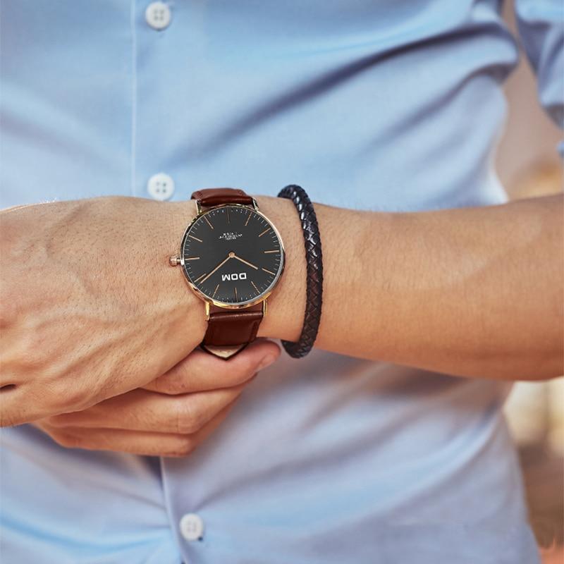 Męskie Zegarki DOM Marka Luksusowy zegarek Kwarcowy Casual zegarek - Męskie zegarki - Zdjęcie 5