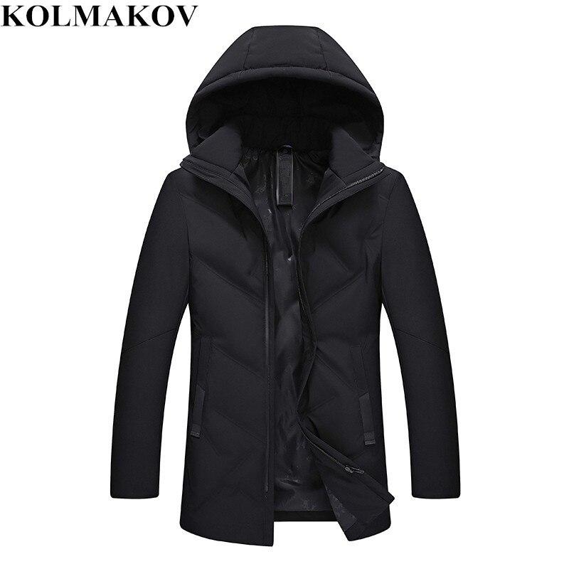 KOLMAKOV New Winter   Down     Coats   men Hooded mens Parkas slim fit thick duck   down   Jackets homme good quality   coats   Plus Size M-4XL