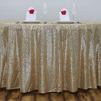 Wholesale 10PCS Light Gold Sequin Tablecloth Wedding Cake Tablecloth Rectangle Sequin Table for Wedding Decoration90x156inch