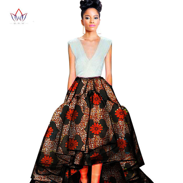 2017 Maxi Pattern African Print Ankara Ball Gown Skirt Elegant Style
