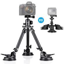 Xe Khởi Động Nắp Hút Chân Không Nặng Ba Hút Giá Đỡ Gắn Cho Canon Nikon Fujifilm Máy Ảnh DSLR Khe Gió Ô Tô Quay Phim