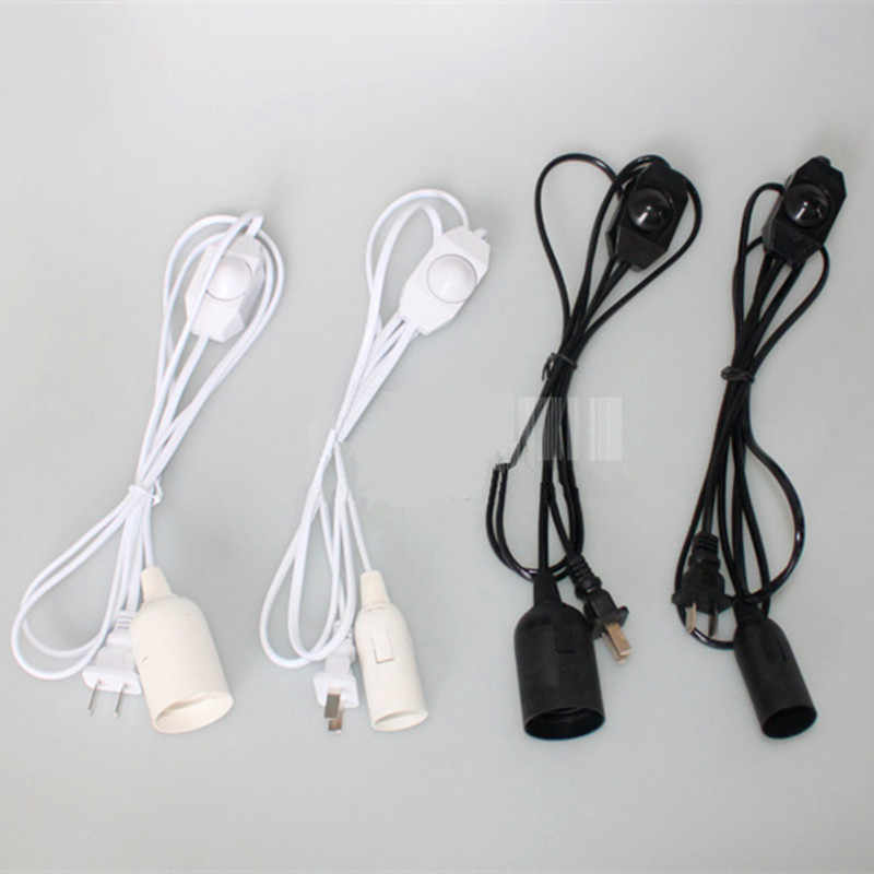E27 Lamp Bases 1.8M Dimmer Switch Power Cord Cable with switch wire for table Lamp chandelier E14 Bulb Holder Lamp 220V 110V