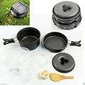 Onfine new arrivel 8 pcs Outdoor Camping Caminhadas Panelas Mochila Cozinhar Picnic Bacia Pot Pan Set Atacado Suporte