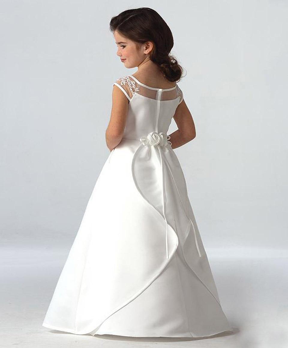 New Children\'s Piano Performance White Lace Tutu Dress Wedding Dress ...