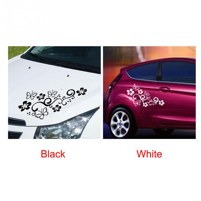 Image 5 - 2Pcs Waterproof Universal Flower and Butterfly Car Body Sticker PVC for Auto Truck 47cm X 25cm-in Car Stickers from Automobiles & Motorcycles